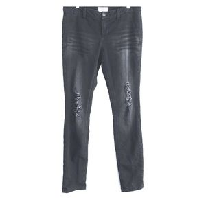 BKE Buckle Black Distressed Jeggings Jeans